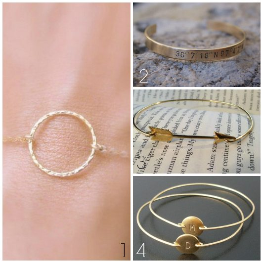 Etsy Wednesday: Simple Gold Jewelry