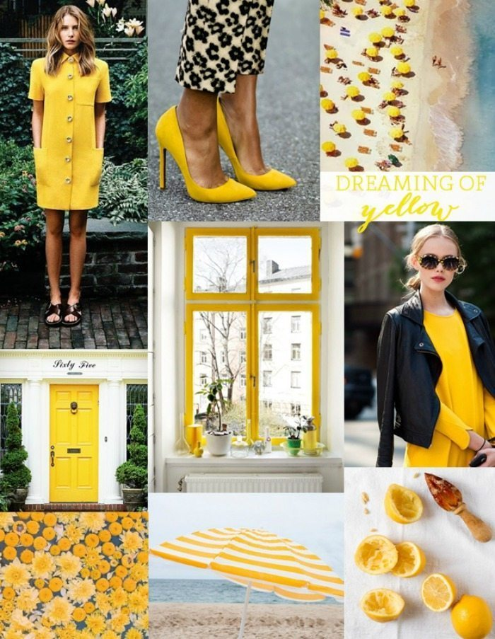 yellow collage