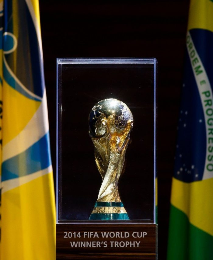 world cup trophy case