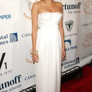eva mendes white dress