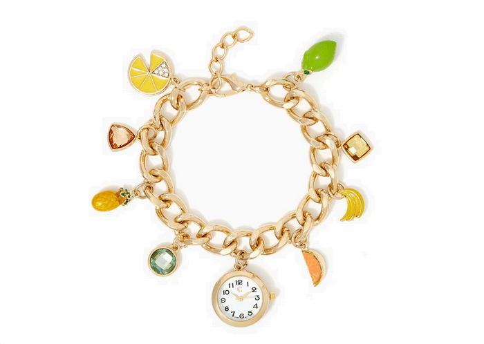 charming charlie pineapples fruit charm watch