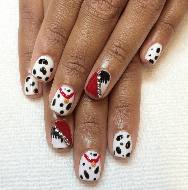 disney nails 101 dalmation