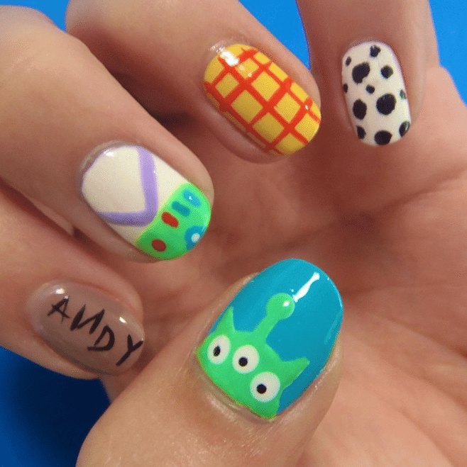 Disney Inspired Outfits Belle Disney Nail Art We're ...